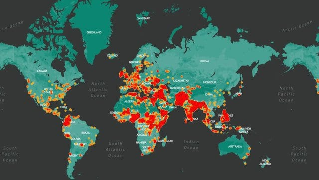 Mapa aktów terrorystycznych ma świecie