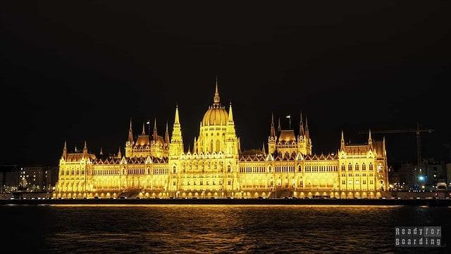 Budynek Parlamentu nocą, Budapeszt - Węgry