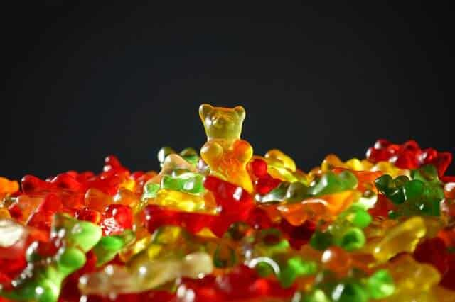 gold bear gummi bears bear yellow
