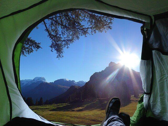 Vista della tenda