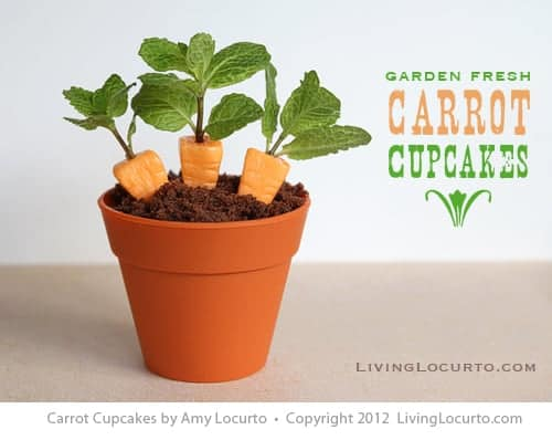How to make Candy Carrot Cupcakes! Fun Food Edible Craft idea for a cute Easter dessert. Chocolate cupcakes and candy carrots.