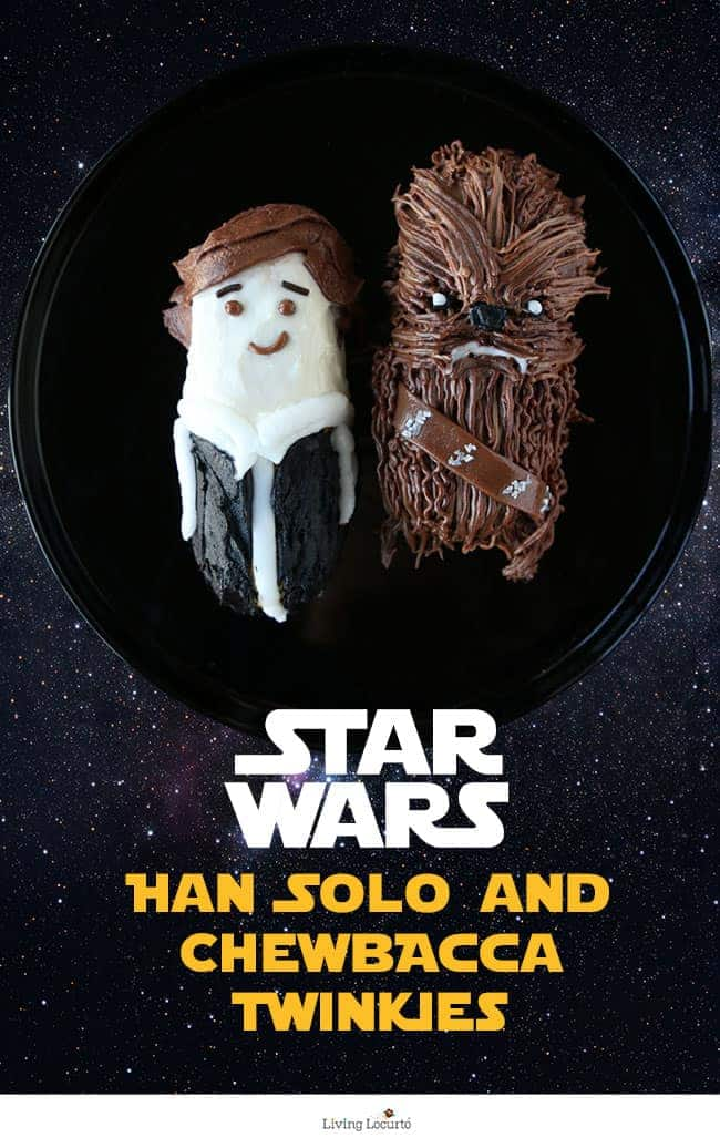 These Star Wars Cakes are out of this world! No-Bake Party Treats that look like Han Solo and Chewbacca. Easy to make Twinkie desserts perfect for a Star Wars Birthday Party.