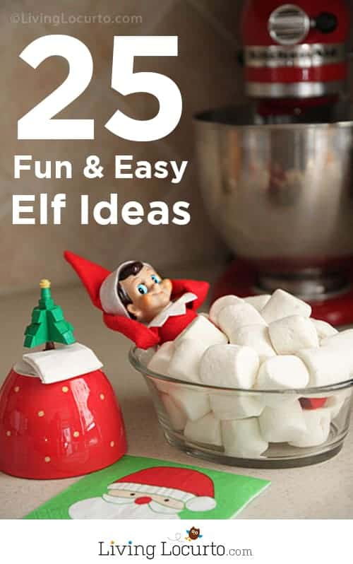 Over 25 of BEST Elf On The Shelf Ideas! Free printables, elf arrival ideas and ideas for moving your Christmas elf. Cute and easy holiday activities for kids. Over a month of elf ideas! #elfontheshelf #elf