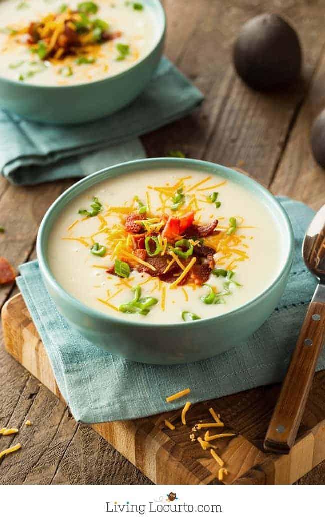 Instant Pot Baked Potato Soup Recipe