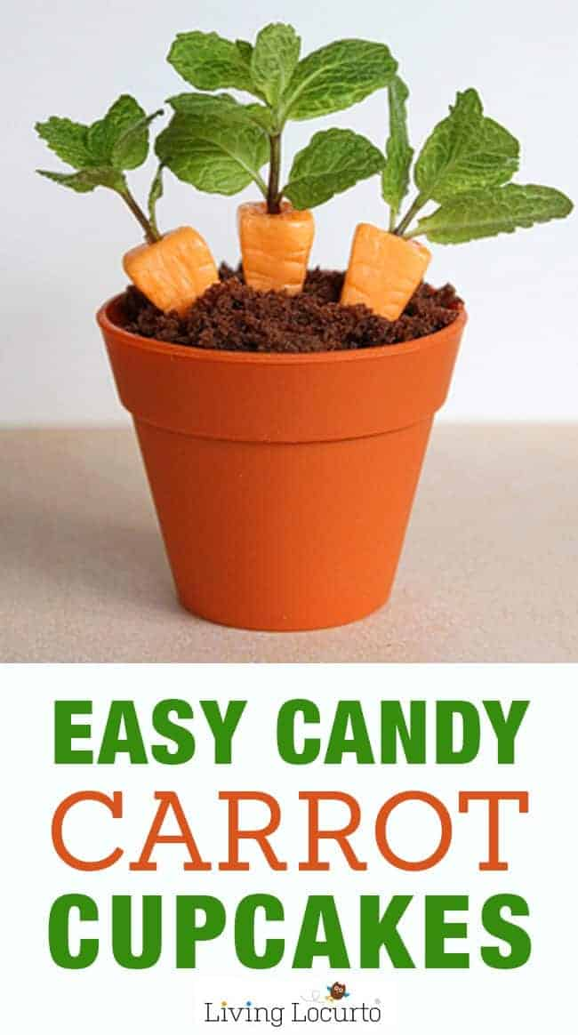 How to make Candy Carrot Cupcakes! Fun Party Food Edible Craft idea for a cute Easter dessert. Chocolate cupcakes and candy carrots.