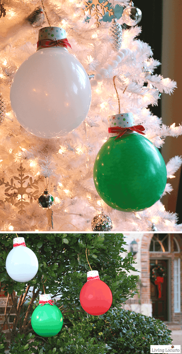 Whether hosting a holiday party, Tacky Christmas party or just want to go BIG… these Giant Balloon Christmas Lights and Ornaments are perfect decorations!