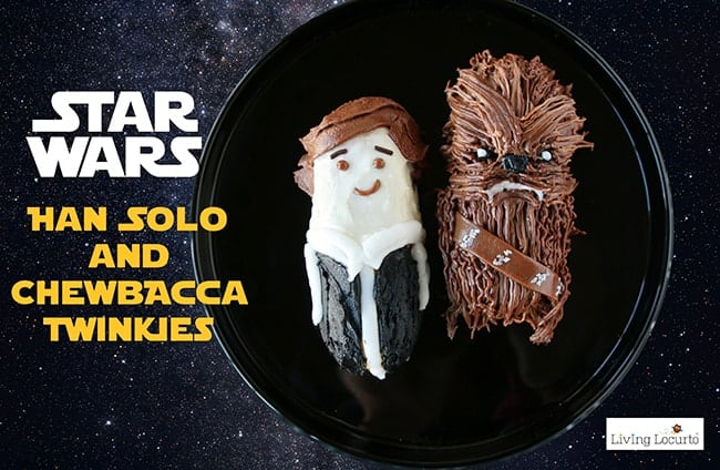 Star Wars Cake Dessert Recipe - Han Solo and Chewbacca Twinkie Cakes by LivingLocurto.com