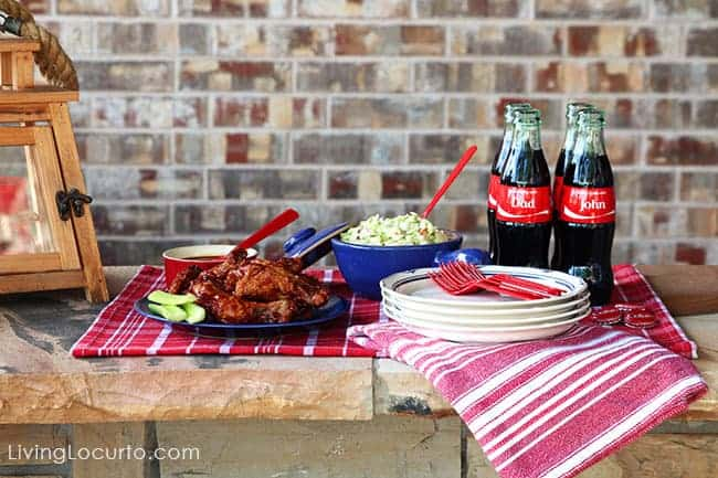 Baked Chicken Wings Recipe and family picnic ideas for game day or a summer party.