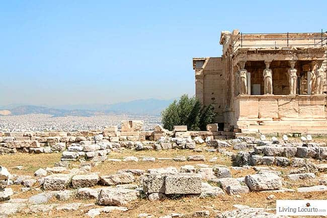 Temple of Athena - Acropolis in Athens. Photo by LivingLocurto.com