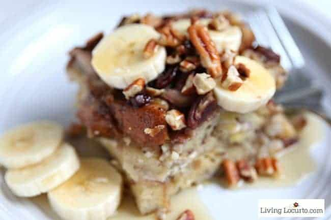 Easy Cream Cheese Banana French Toast Instant Pot Recipe. A fast way to make a delicious french toast bake in a pressure cooker. One pot breakfast recipe!
