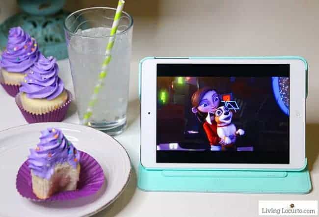 Magical Glow in the Dark Cotton Candy Cupcakes - Fun Food Birthday Party idea. Lost in Oz new Amazon Original Kids Show
