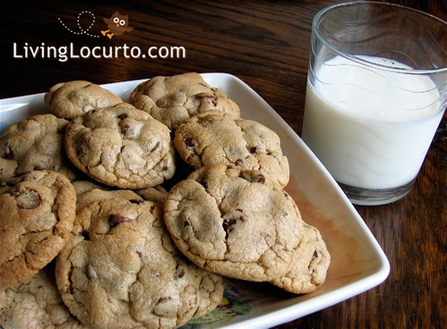 A recipe for the BEST and softest chocolate chip cookies! LivingLocurto.com