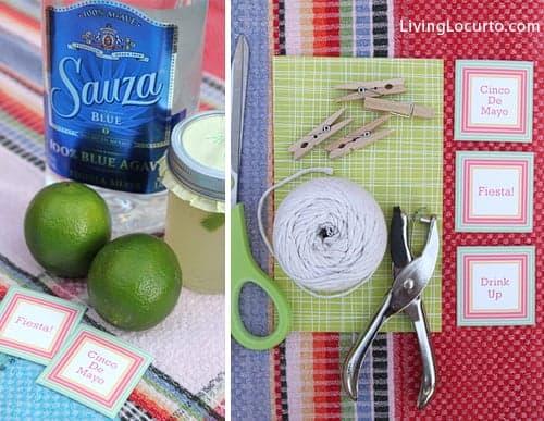 Cinco de Mayo Party Ideas - Margarita Recipe - Free Printables