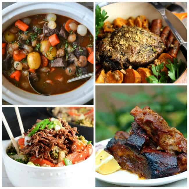 60 Delicious Crock Pot Recipes! Great slow cooker beef recipes for dinner. LivingLocurto.com
