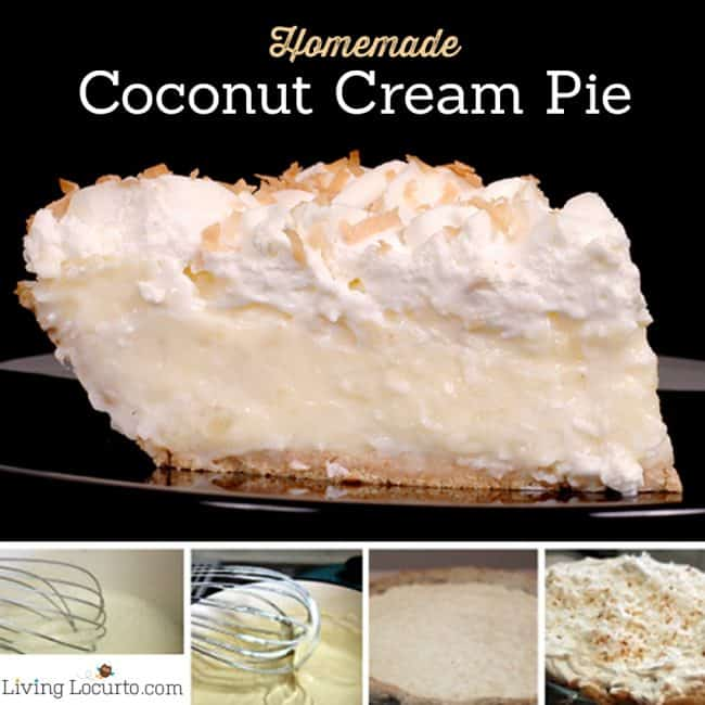 Homemade Coconut Cream Pie Recipe. A mouth-watering easy dessert wonderful for any occasion!