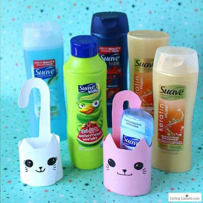 Recycled bottle cat container is a simple craft! Easy repurposed shampoo bottles turned into cute kitty cat containers.
