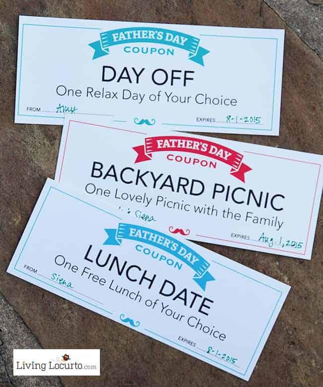 Free Printable Fathers Day Coupons! LivingLocurto.com