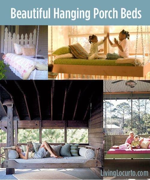 15 Beautiful Hanging Porch Beds
