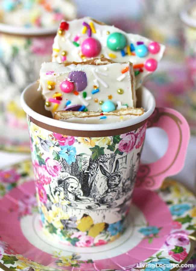 Unicorn Crack is a fun White Chocolate Saltine Toffee Recipe.