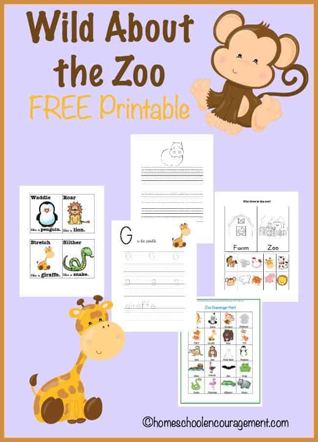 Planning a trip to the Zoo?  Take a look at this FREE printable set with resources for books and activites that make learning about the zoo more fun!
