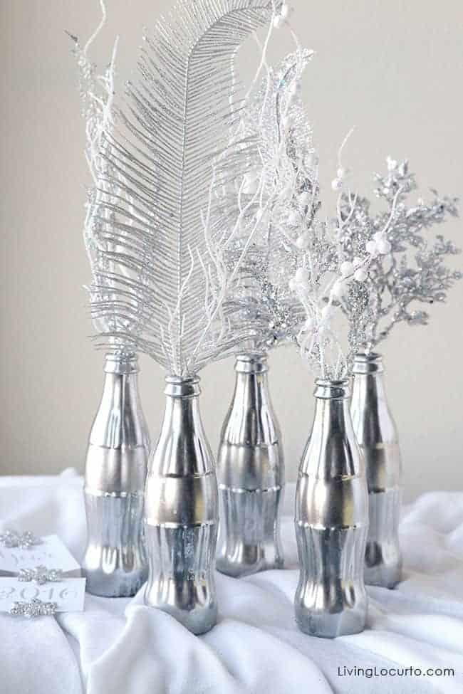 How to Make a Mercury Glass Coke Bottle Centerpiece Craft