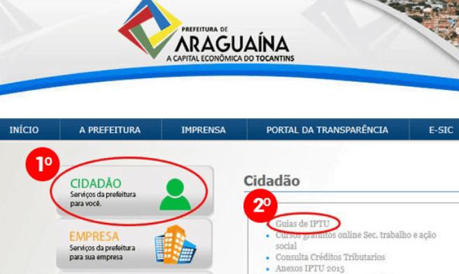 Consulta IPTU Araguaína TO 1