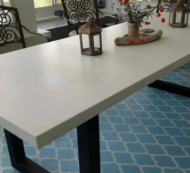 white-concrete-dining-table