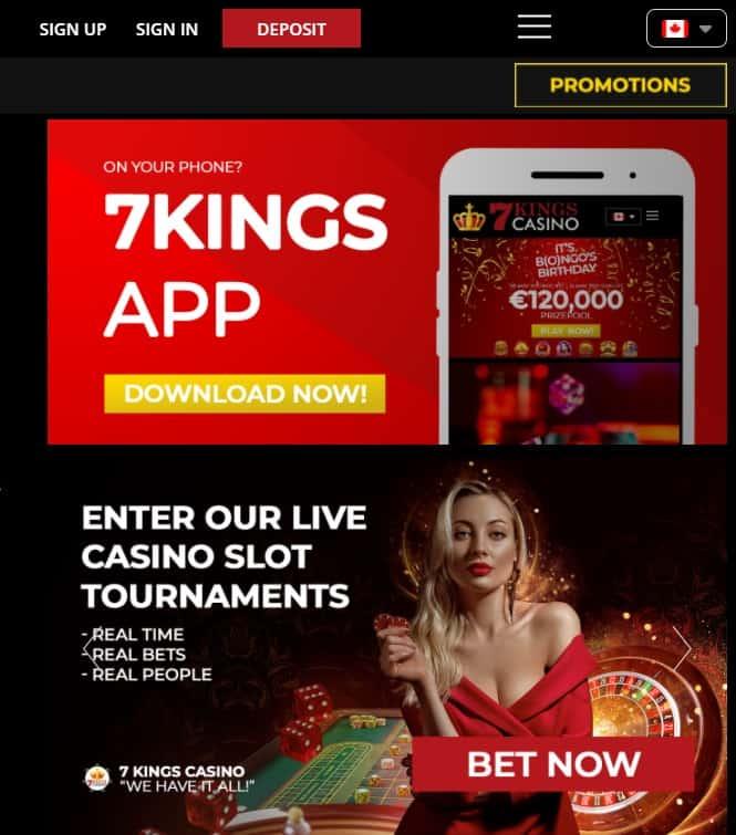 7Kings free spins bonus