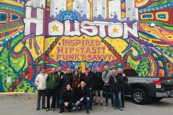 Colorful murals are some of the street art you'll pass on a walking food tour of the heights in houston