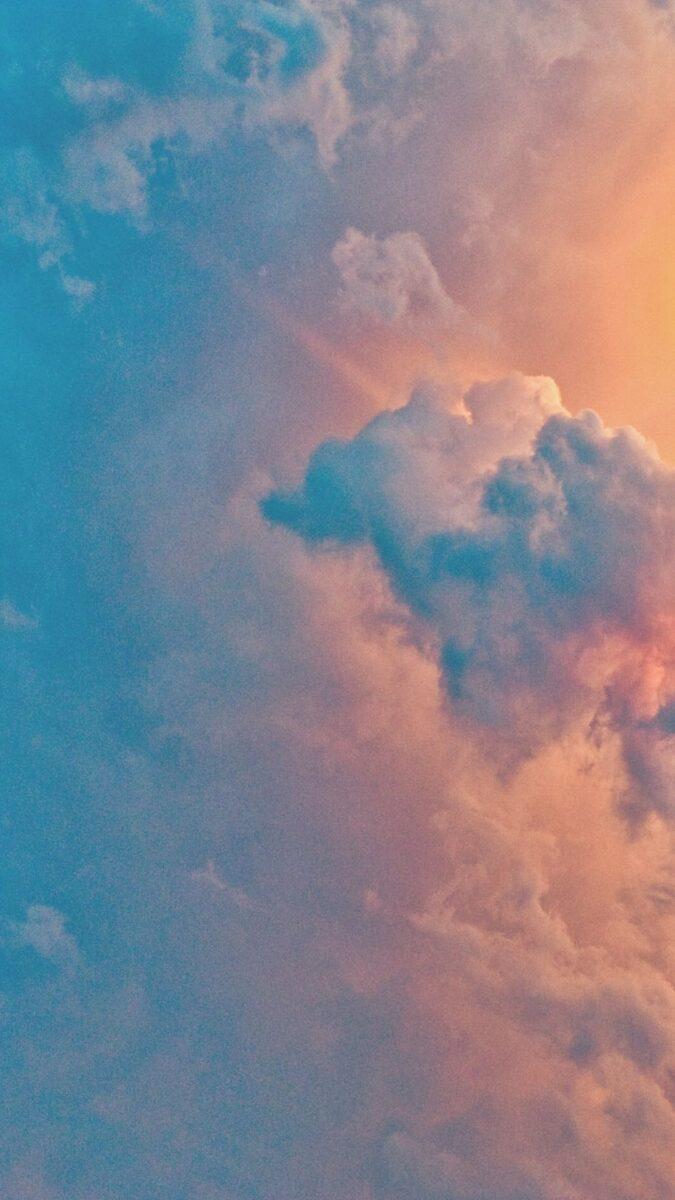 Cloud iPhone Wallpaper | Cloud aesthetic wallpaper, wallpaper aesthetic backgrounds, iPhone wallpaper. sunset cloud sky