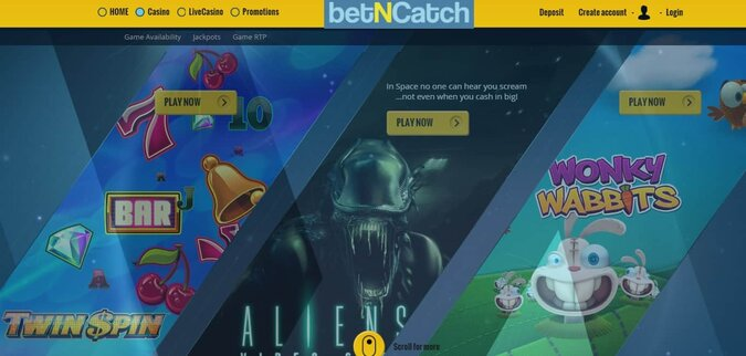 Bet N Catch Casino 150 free spins and 500 euro welcome bonus