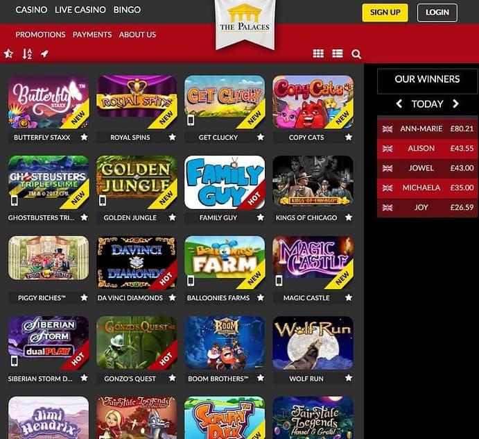 ThePalaces.com Casino & Bingo