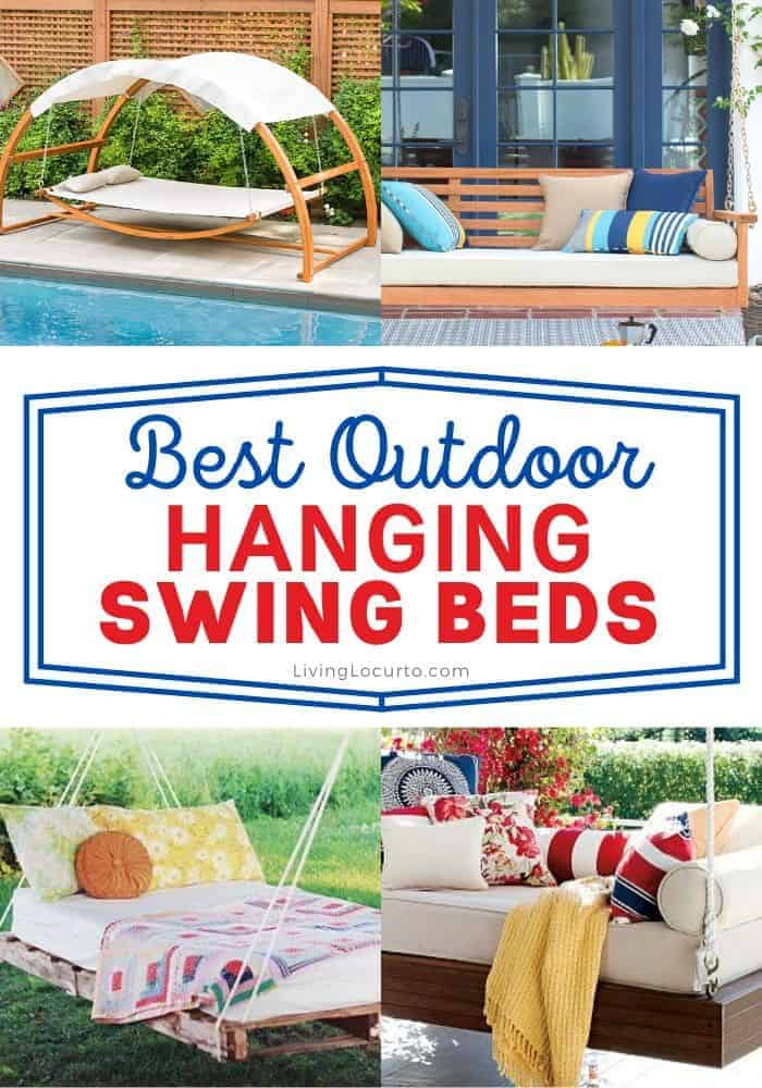 Best outdoor hanging swing beds - home decorating ideas