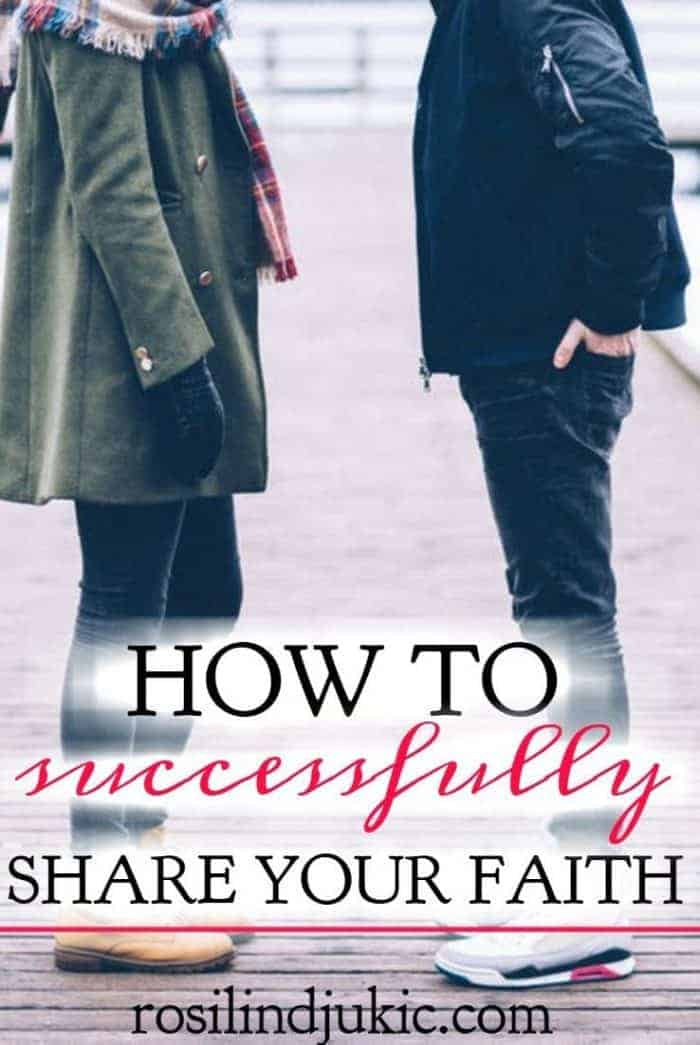 Do you know how to successfully share your faith? Here are 5 things you need to share your faith, plus a printable tract you can use.