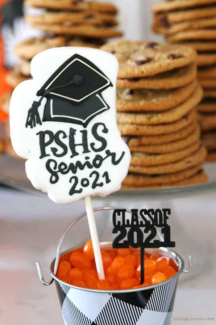 Graduation Party Cookie Pops