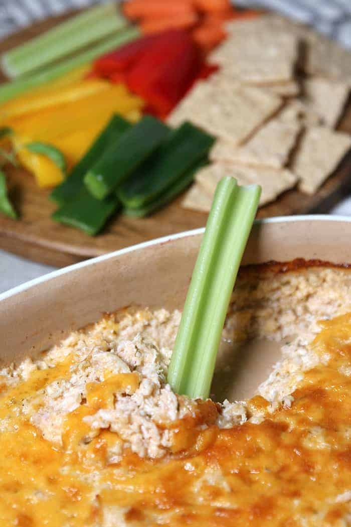 Low Carb Skinny Ranch Chicken Dip Recipe