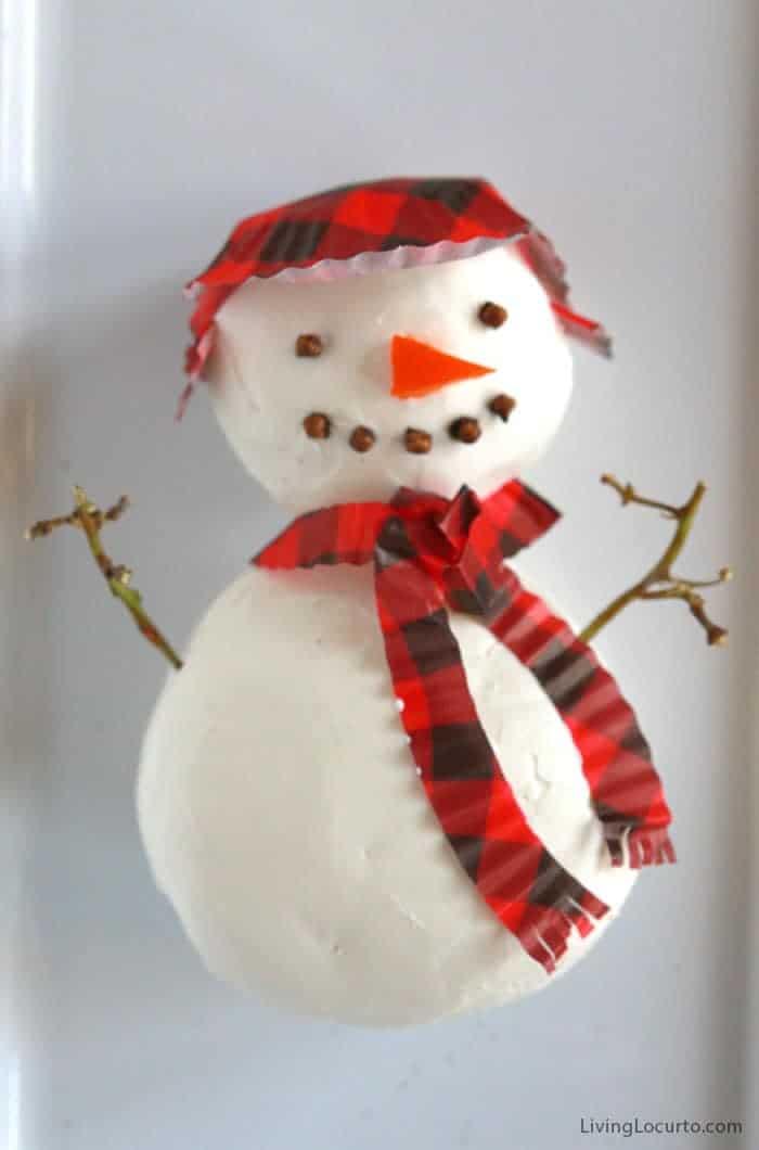 Easy Snowman Cheese Ball Recipe