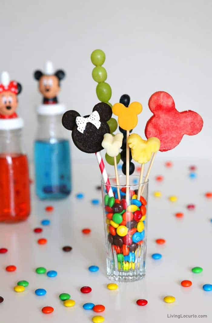 Disney Jarcuterie - Mickey Mouse shaped fruit and cheese Charcuterie in Jar