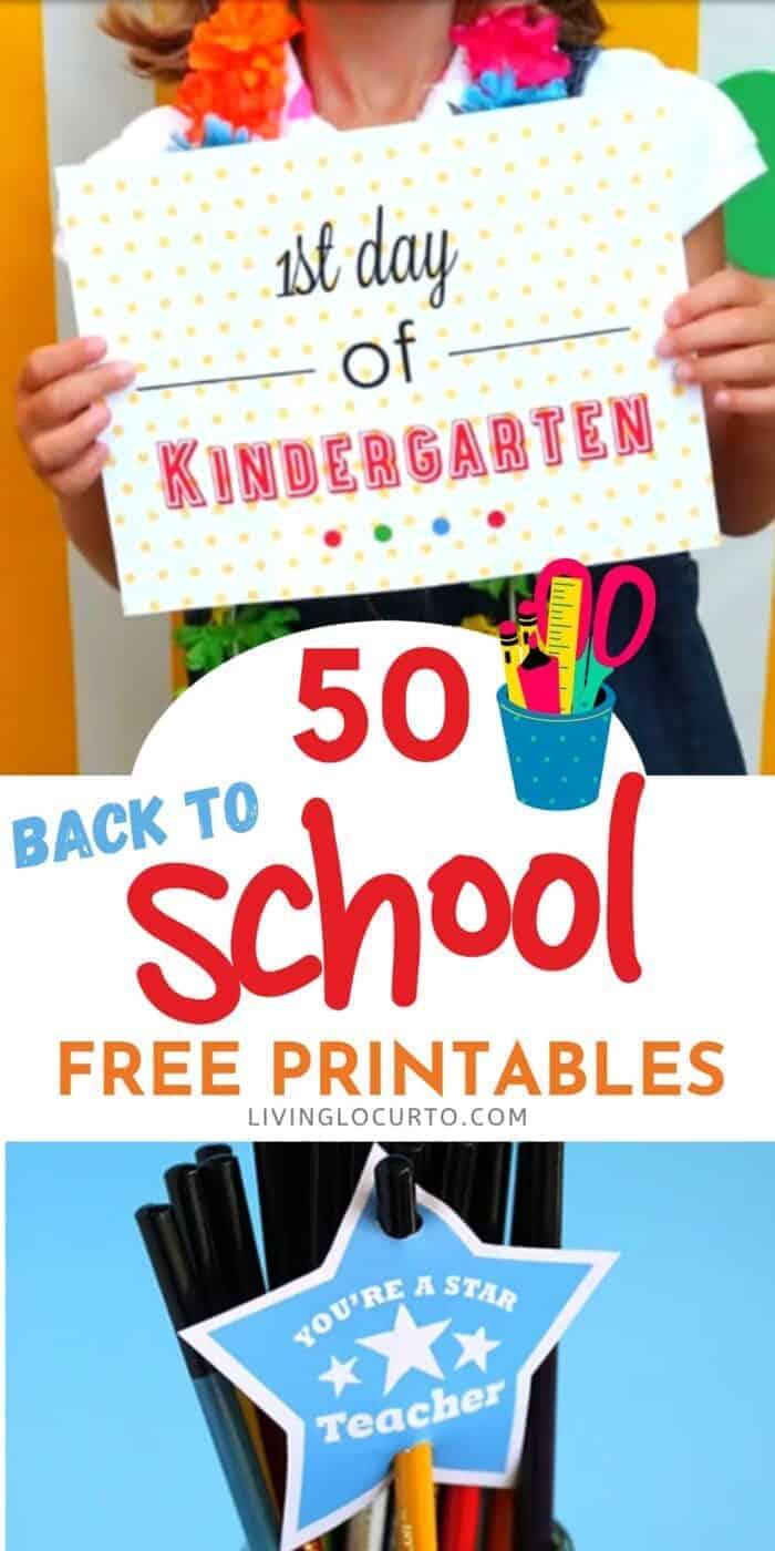 50 best Back to School Free Printables