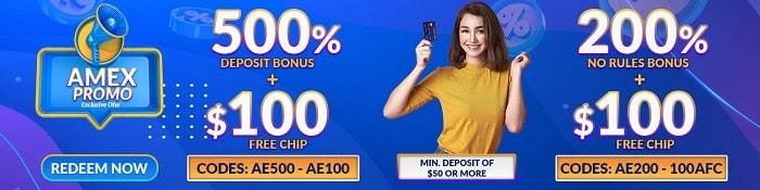 500% Amex Promo