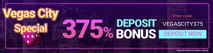 375% Deposit Bonus