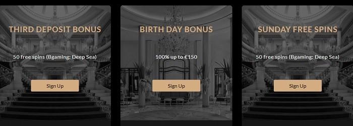 Premier Rewards, VIP Promotions, Free Spins Bonuses