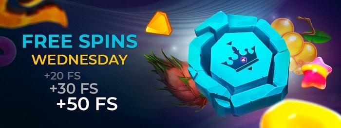 Golden Crown Casino free spins bonus