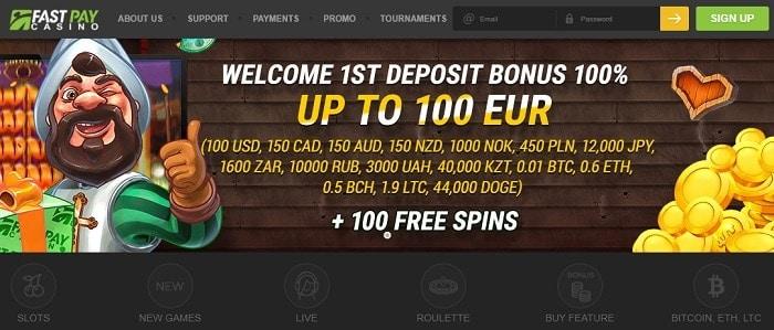 100 freespins bonus