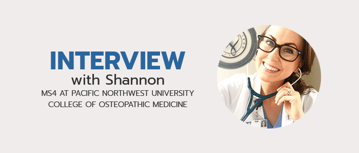 Check out more of our interviews with med students!