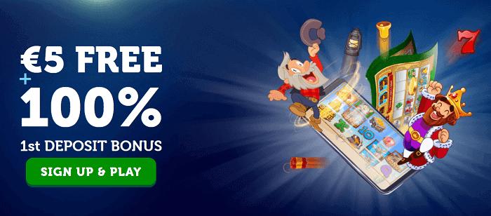 100% bonus and $5 gratis