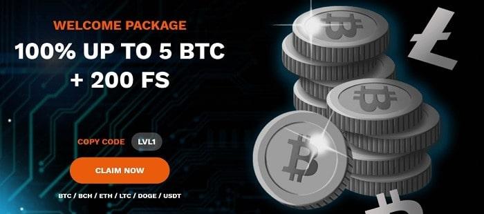 5 Bitcoins Welcome Bonus