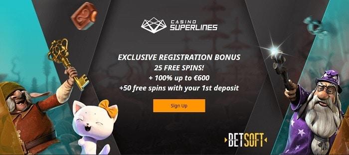 Superlines free spins bonus code