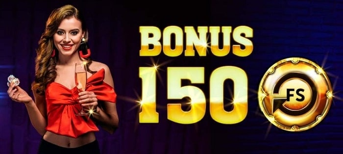 150 free spins welcome bonus