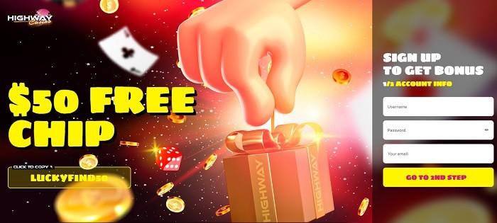 $50 free spins bonus